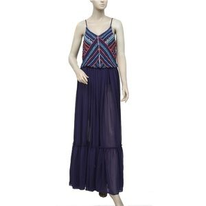 Anthropologie Farm Embellished Long Maxi Dress XS
